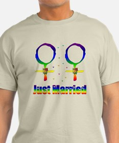 Just Married Lesbians T-Shirt