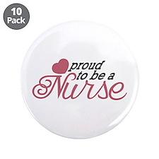 """Proud Nurse 3.5"""" Button (10 pack)"""