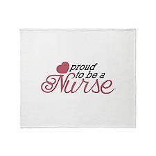 Proud Nurse Throw Blanket