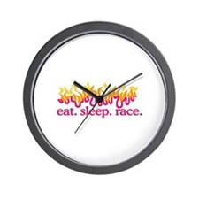 Race (Flames) Wall Clock