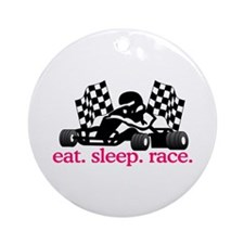 Race (Go Kart) Ornament (Round)