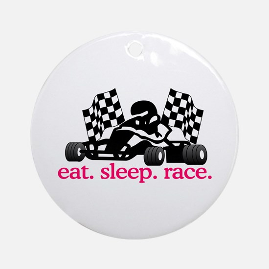 Race (Go Kart) Ornament (Round)