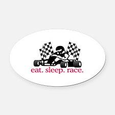 Race (Go Kart) Oval Car Magnet