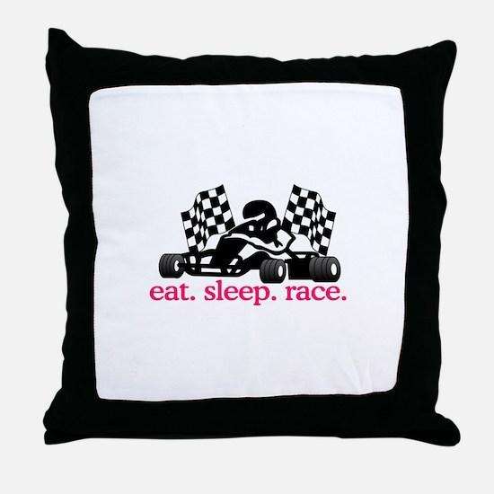 Race (Go Kart) Throw Pillow