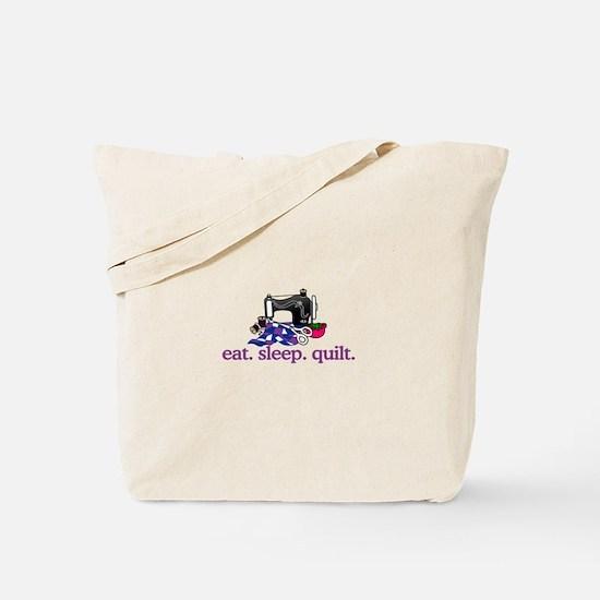 Quilt (Machine) Tote Bag