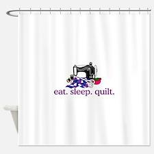 Quilt (Machine) Shower Curtain