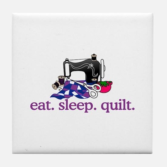 Quilt (Machine) Tile Coaster