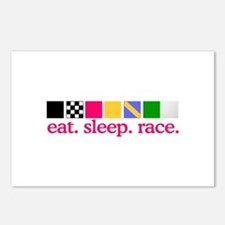 Race (Flags) Postcards (Package of 8)