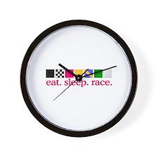 Race (Flags) Wall Clock