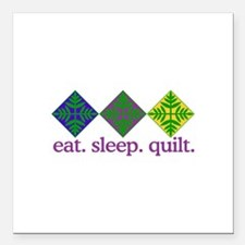 """Quilt (Squares) Square Car Magnet 3"""" x 3"""""""