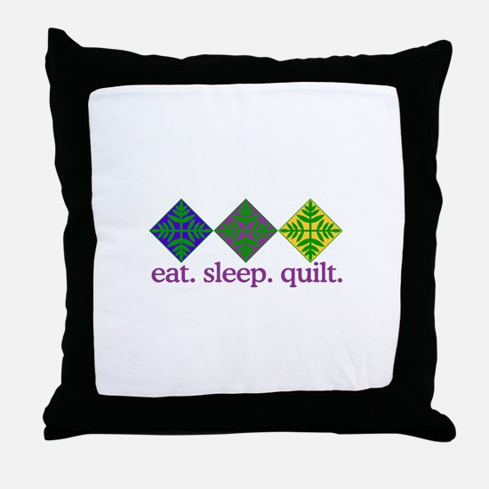 Quilt (Squares) Throw Pillow