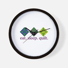 Quilt (Squares) Wall Clock
