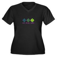 Quilt (Squares) Plus Size T-Shirt