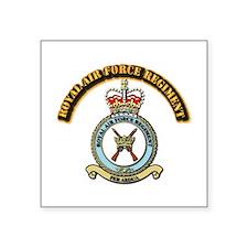 "Royal Air Force Regt w Text Square Sticker 3"" x 3"""