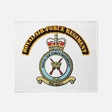 Royal Air Force Regt w Text Throw Blanket