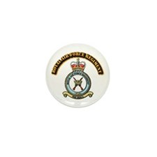 Royal Air Force Regt w Text Mini Button (10 pack)