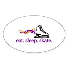 Skate (Flaming Skate) Decal