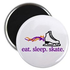 Skate (Flaming Skate) Magnets