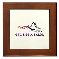 Skate (Flaming Skate) Framed Tile