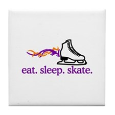 Skate (Flaming Skate) Tile Coaster