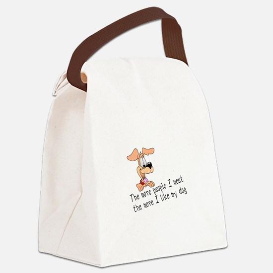 I Like My Dog Canvas Lunch Bag