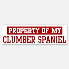 Property of Clumber Spaniel Bumper Bumper Bumper Sticker