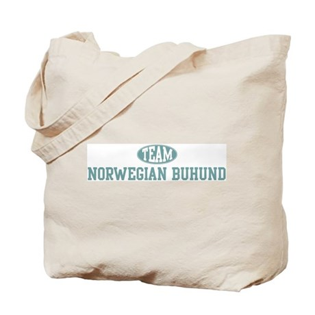 Team Norwegian Buhund Tote Bag