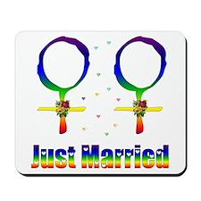 Just Married Lesbians Mousepad
