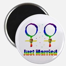 Just Married Lesbians Magnet