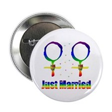 "Just Married Lesbians 2.25"" Button (10 pack)"