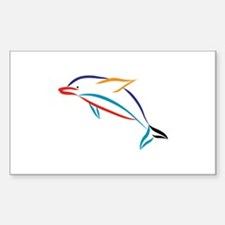 Multicolor Dolphin Decal