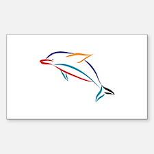 Multicolor Dolphin Decal