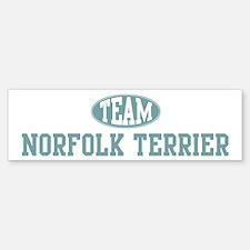 Team Norfolk Terrier Bumper Bumper Bumper Sticker
