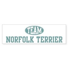 Team Norfolk Terrier Bumper Bumper Sticker