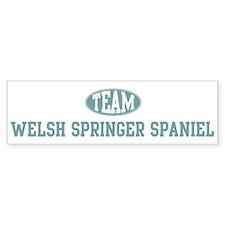 Team Welsh Springer Spaniel Bumper Bumper Sticker