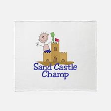 Sand Castle Champ Throw Blanket