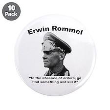 """Rommel: Kill It 3.5"""" Button (10 pack)"""