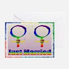 Just Married Lesbians Greeting Cards (Pk of 20)