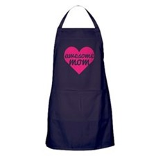 Awesome Mom Heart Apron (dark)
