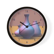 Pottery Vases Wall Clock
