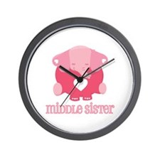Middle Sister Elephant Wall Clock
