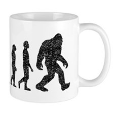 Bigfoot Evolution (Distressed) Mugs