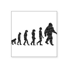 Bigfoot Evolution (Distressed) Sticker
