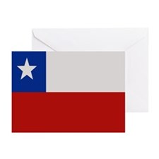 """Chile Flag"" Greeting Cards (Pk of 20)"