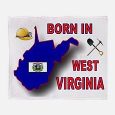 WEST VIRGINIA BORN Throw Blanket