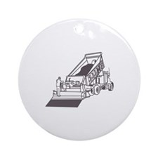 Paving Truck Outline Ornament (Round)
