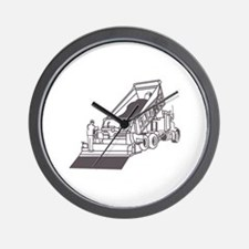 Paving Truck Outline Wall Clock