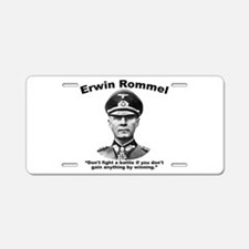Rommel: Don't Fight Aluminum License Plate