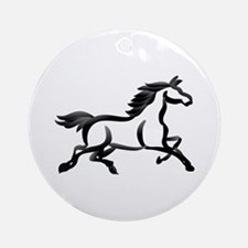 Horse Outline Ornament (Round)