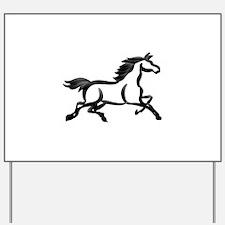 Horse Outline Yard Sign